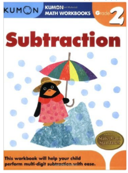 Kumon Educational Workbook for Math Substraction