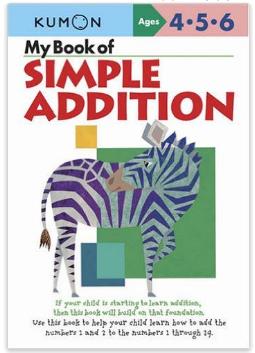 Kumon Educational Workbook for Math Simple Addition