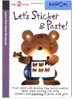 Kumon Educational Preschool Workbook Let's Sticker and Paste