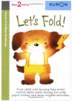 Kumon Educational Workbook Preschool folding paper