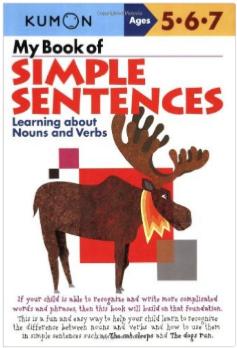 Kumon Educational Workbook Simple Sentences Language Arts