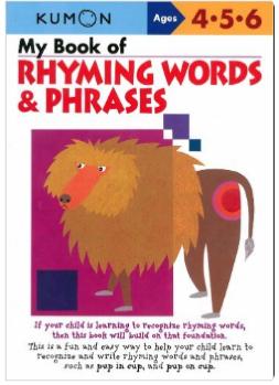 Kumon Educational Workbook Rhyming Words Language Arts