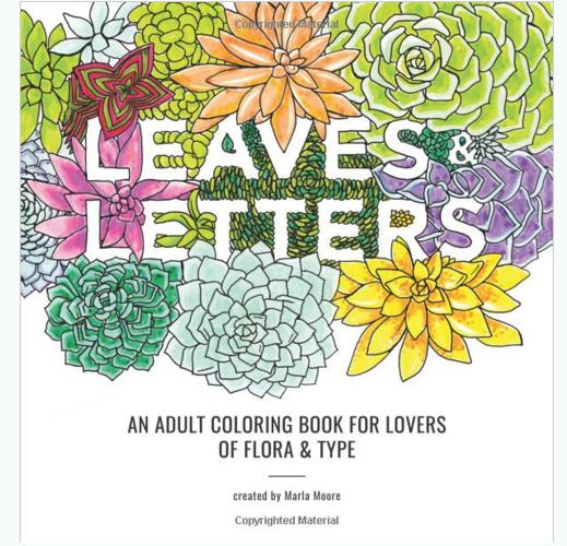 Leaf Garden Flora Adult Coloring Book