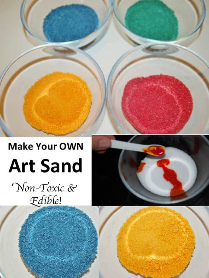 Make Your Own Art Sand Tutorial - Non Toxic & Edible