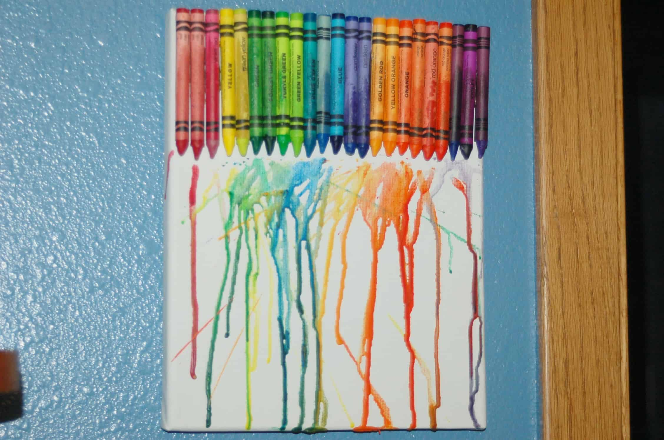 How to Make a Melted Crayon Canvas