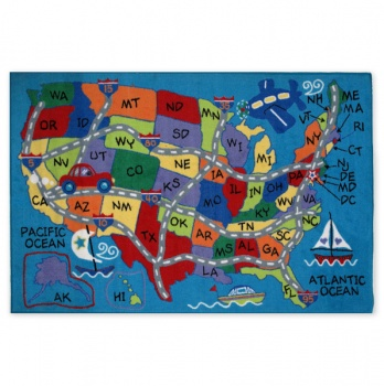 Totsy Has A Few Great Sales Today Including This Cute Us Map Rug For 19 95 They Also Have A Planets Rug As Well As Two Different Styles Of World Map Rugs