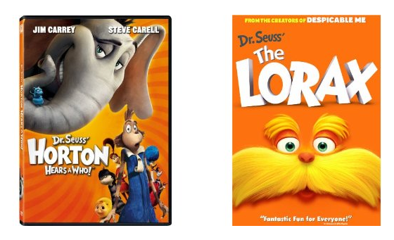 The Lorax AND Horton Hears a Who ONLY $3.99 each on DVD!