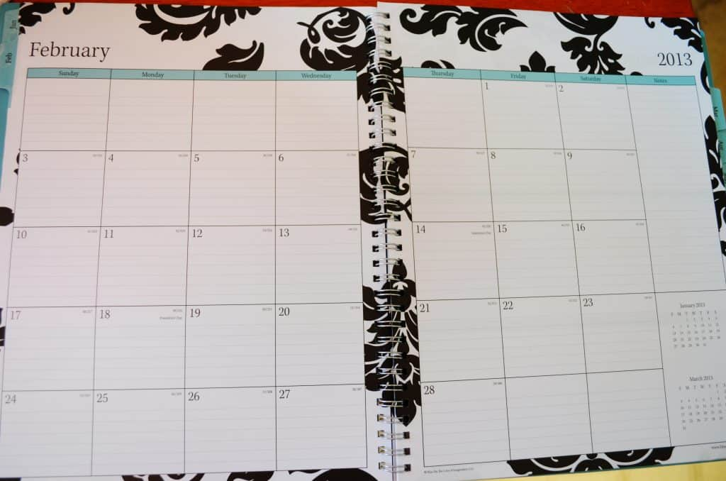 calendar, planner, organization notebook