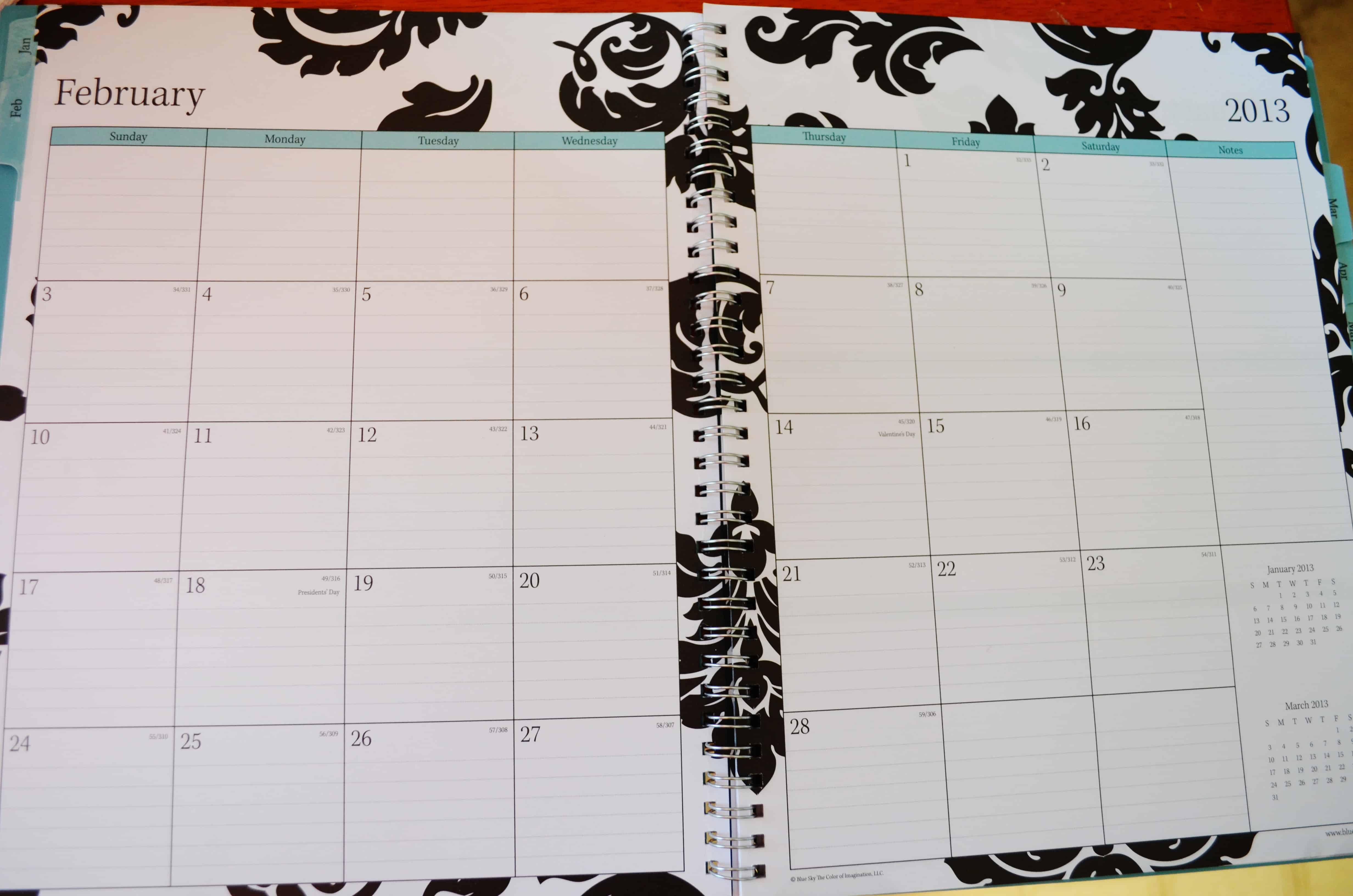 Calendar Planner Notebook : Tips for buying an organizational planner surviving a