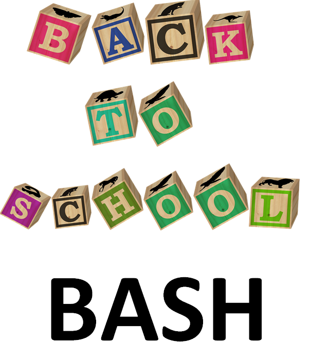 back to school bash event button