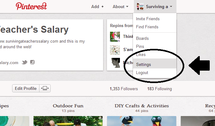 verify pinterest wordpress