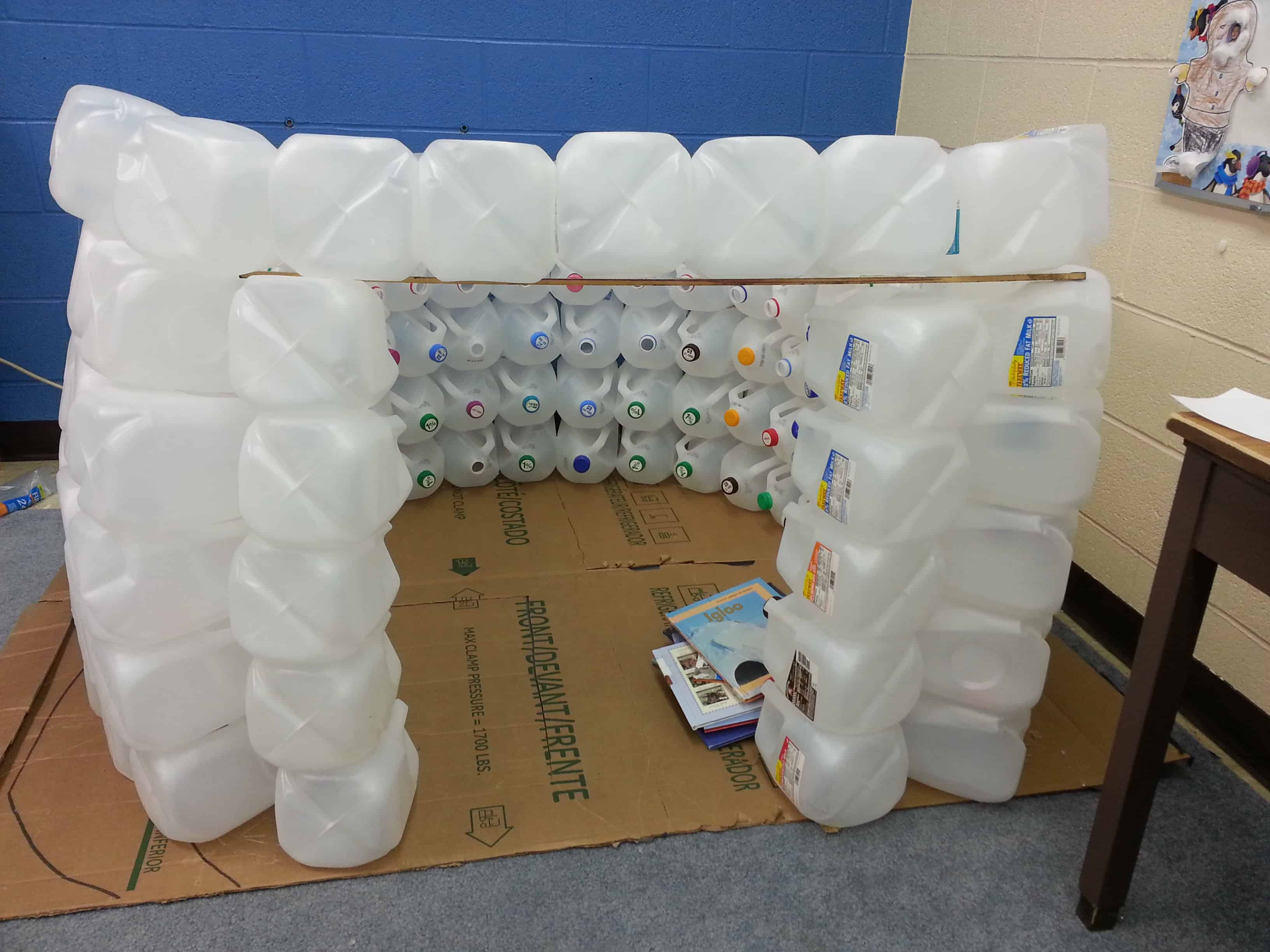 igloo made out of gallon jugs pictures surviving a teacher u0027s salary
