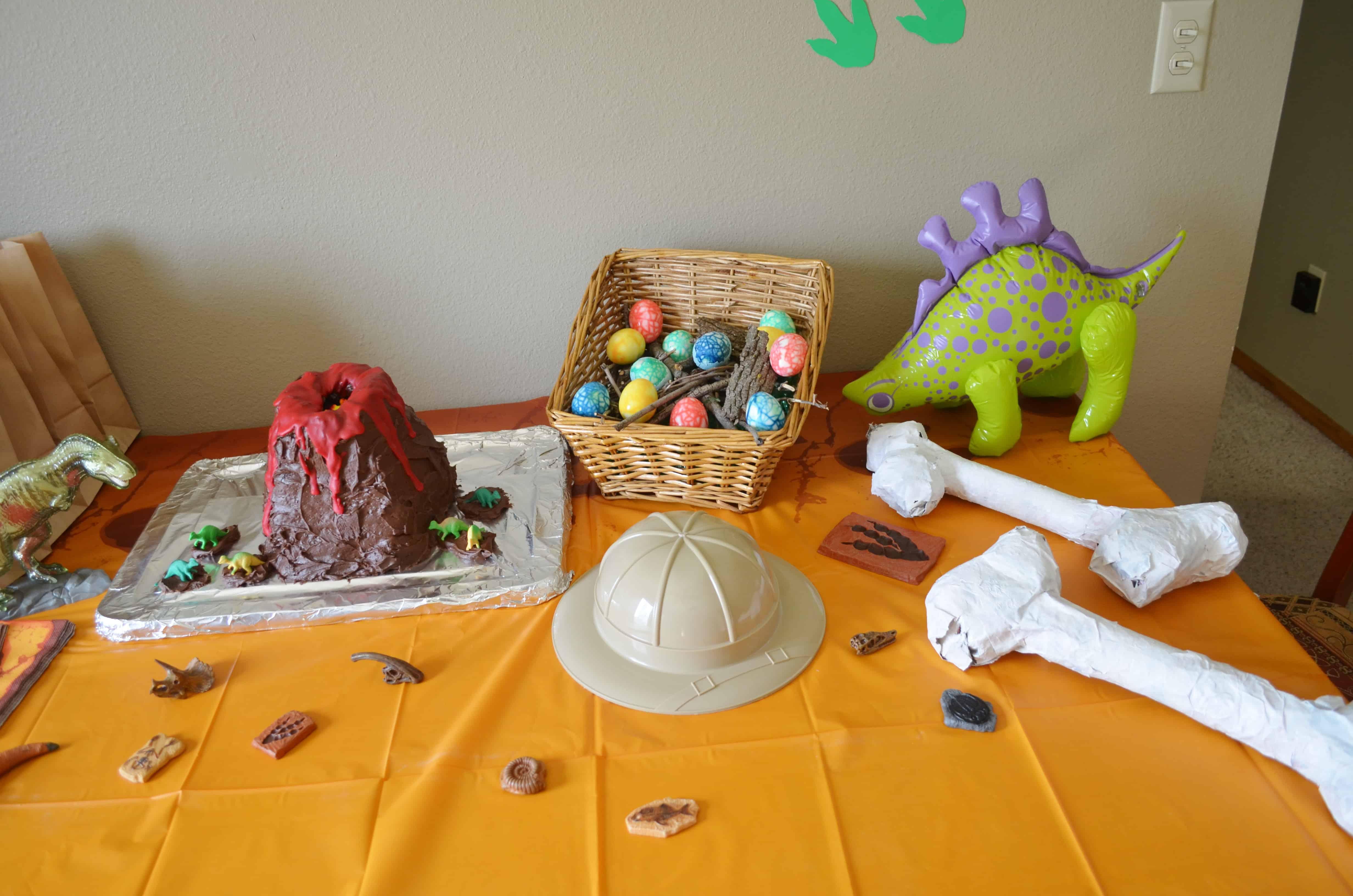 kids dinosaur fossil birthday party