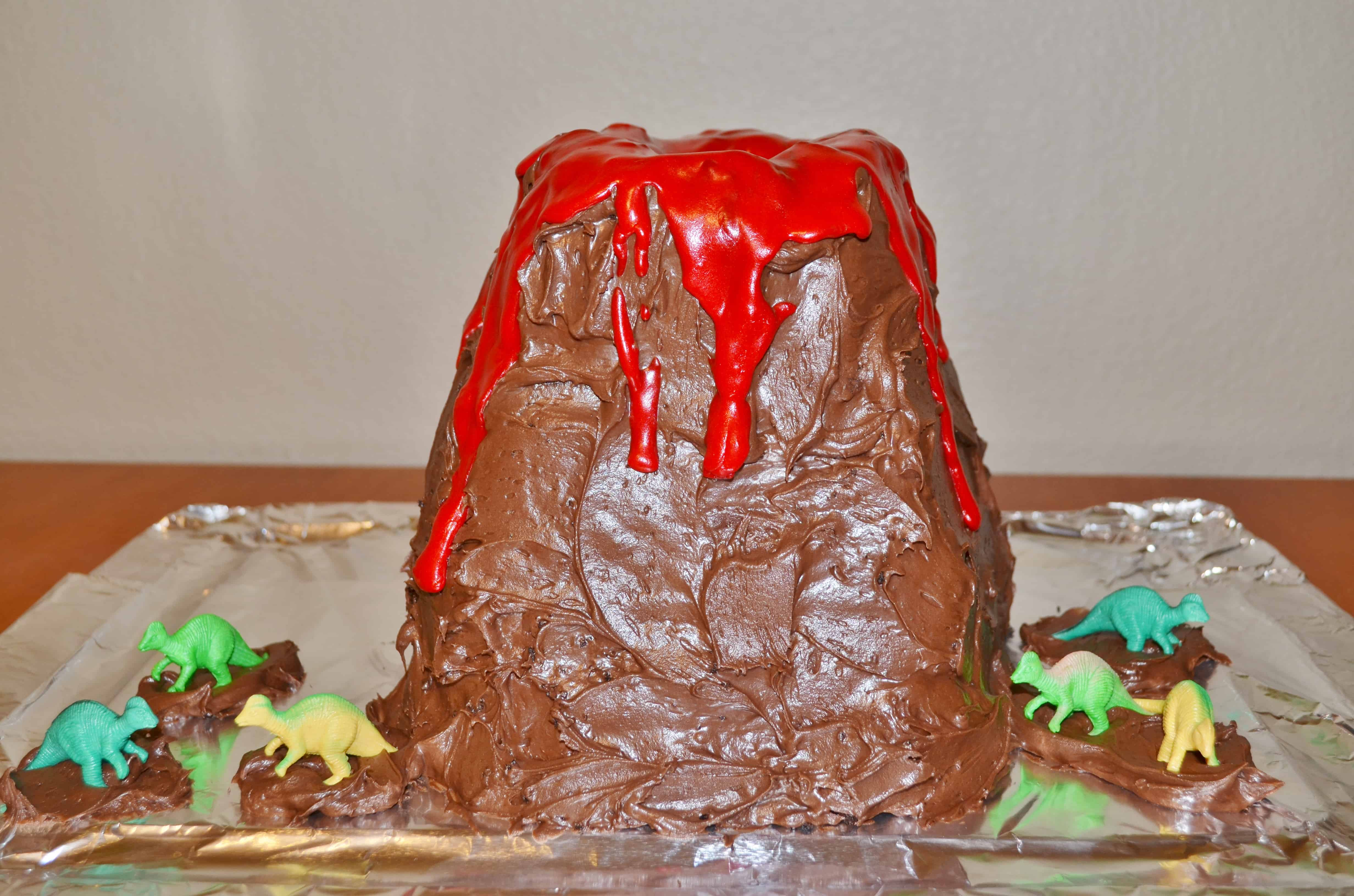 How To Make A Volcano Cake Dinosaur Party