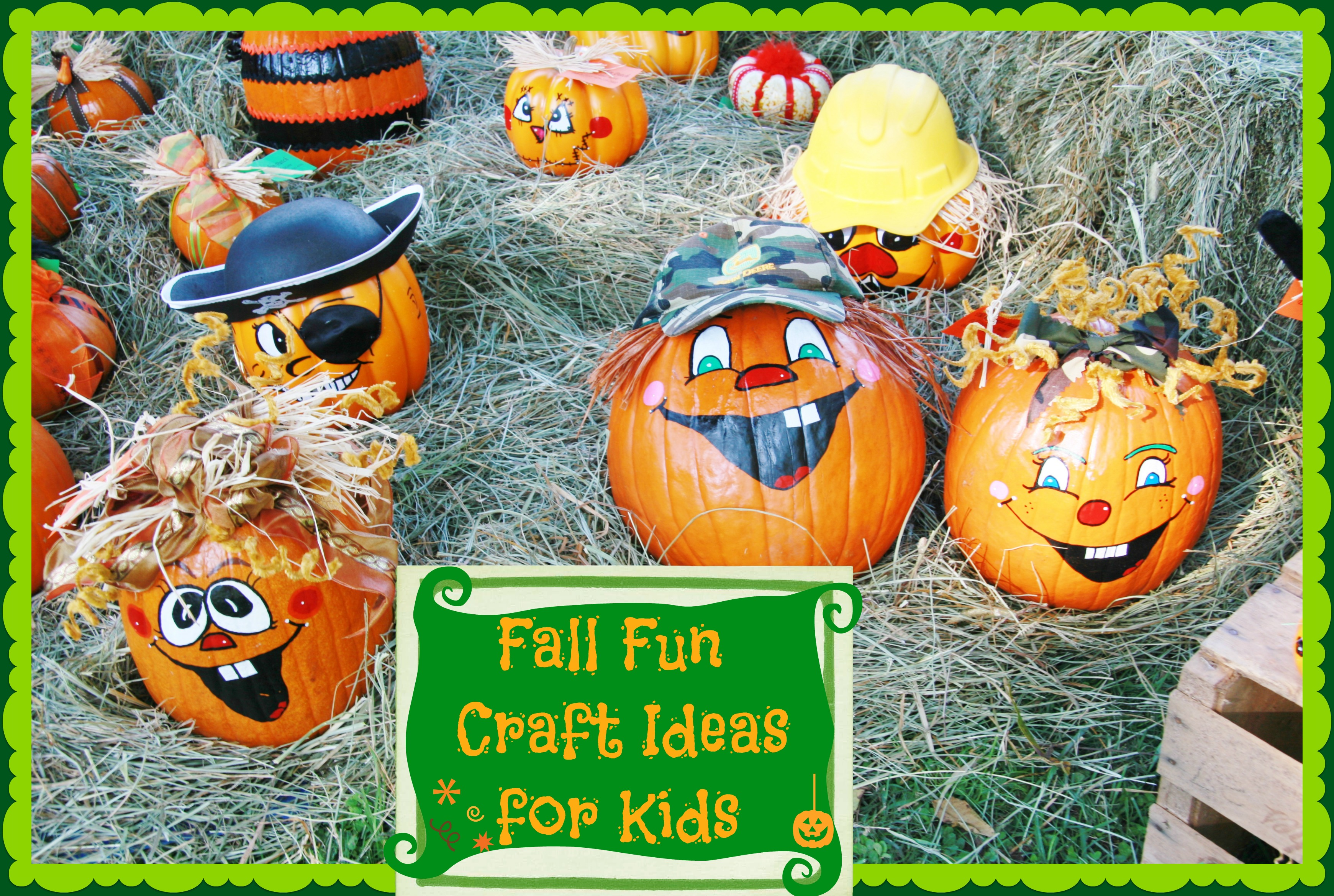 Simple fall fun crafts for kids for Fall ideas crafts