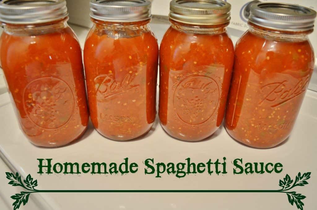DIY Homemade Spaghetti Sauce Canning Recipe