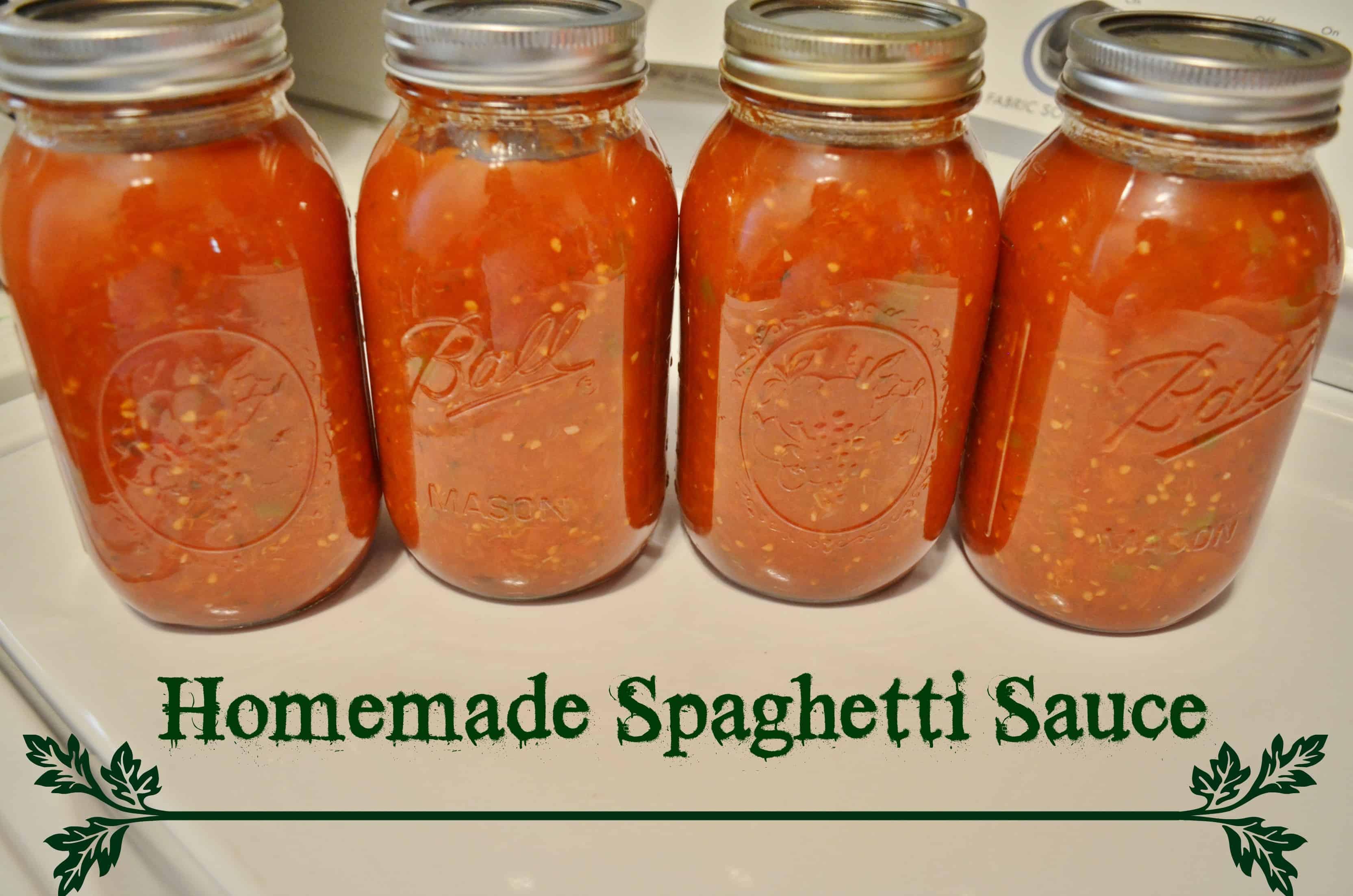 DIY Homemade Spaghetti Sauce Canning Recipe Tutorial