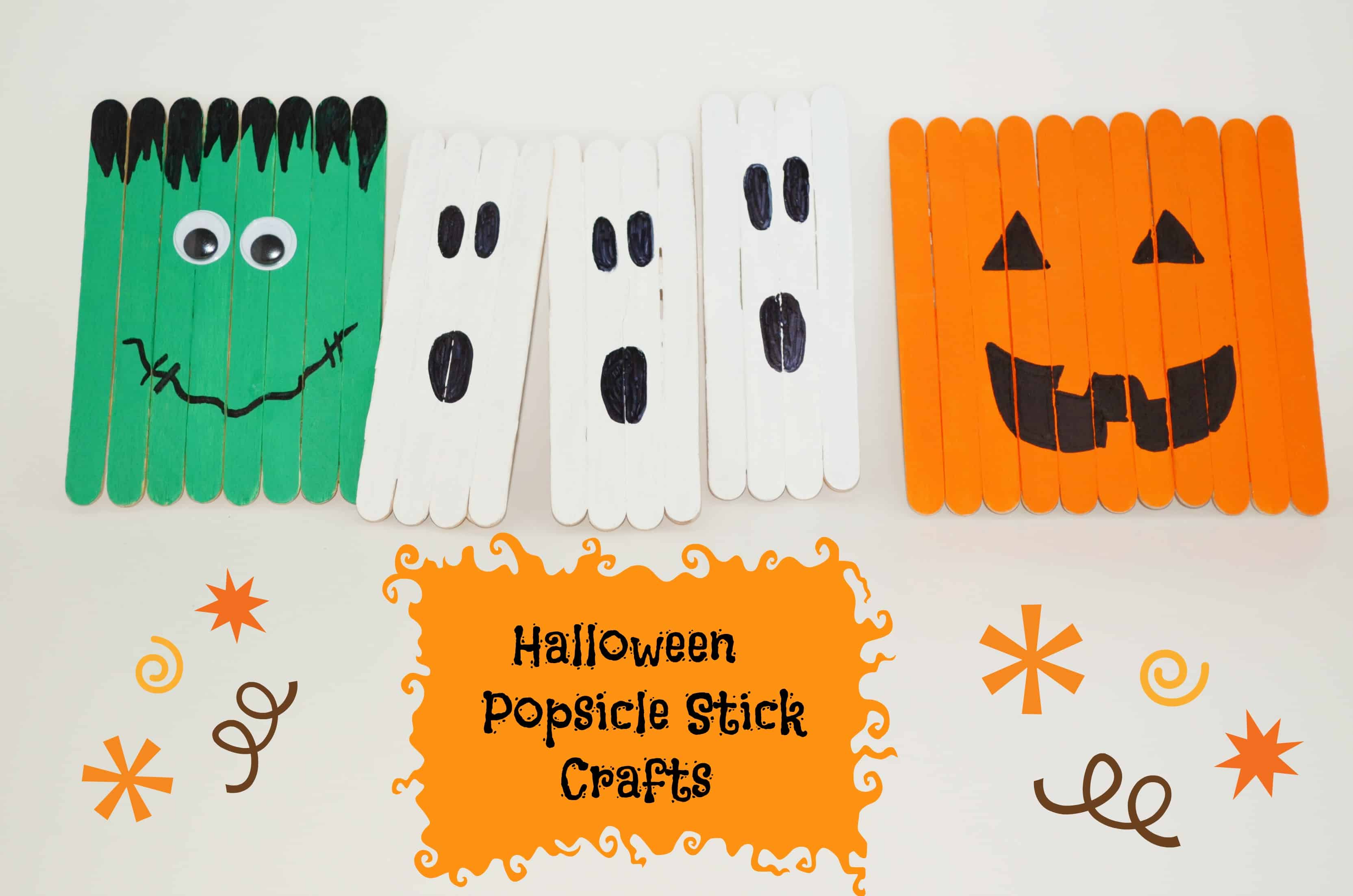 Halloween Crafts with Popsicle Sticks for Kids