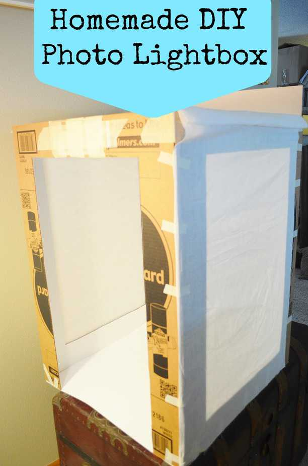 diy homemade photography light box step by step tutorial. Black Bedroom Furniture Sets. Home Design Ideas