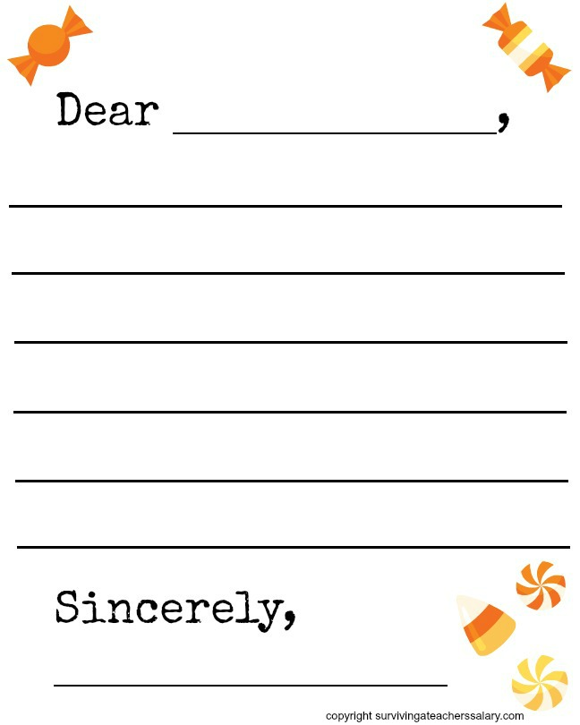 Candy Letter Template  Letter I Template