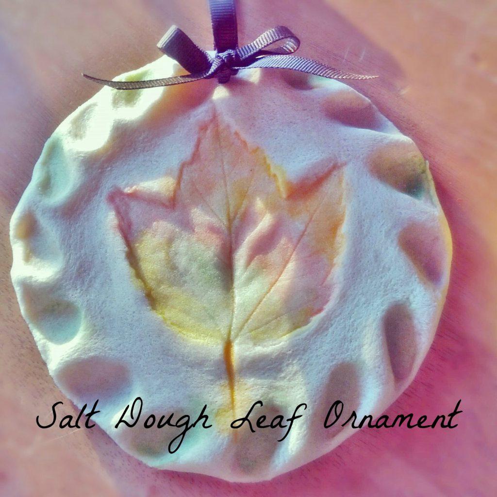 Salt Dough Leaf Ornament Gift Tutorial