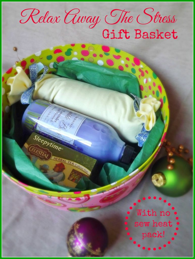 Handmade Gift Basket Ideas : Relax away the stress gift basket teacher handmade