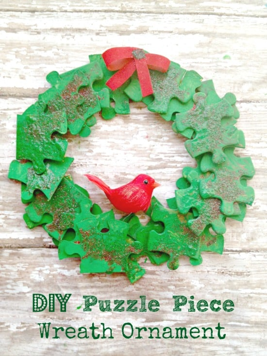 Holiday Wreath Puzzle Piece Ornament Kid S Craft