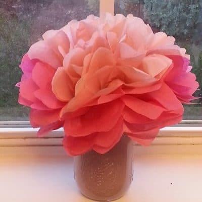 Tissue Paper Flower Bouquet & Heart Sun Catchers Crafts