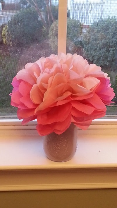 Tissue Paper Flower Bouquet & Heart Sun Catchers Crafts ...