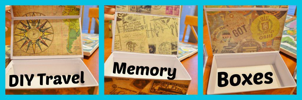 DIY Travel Memory Boxes Collage