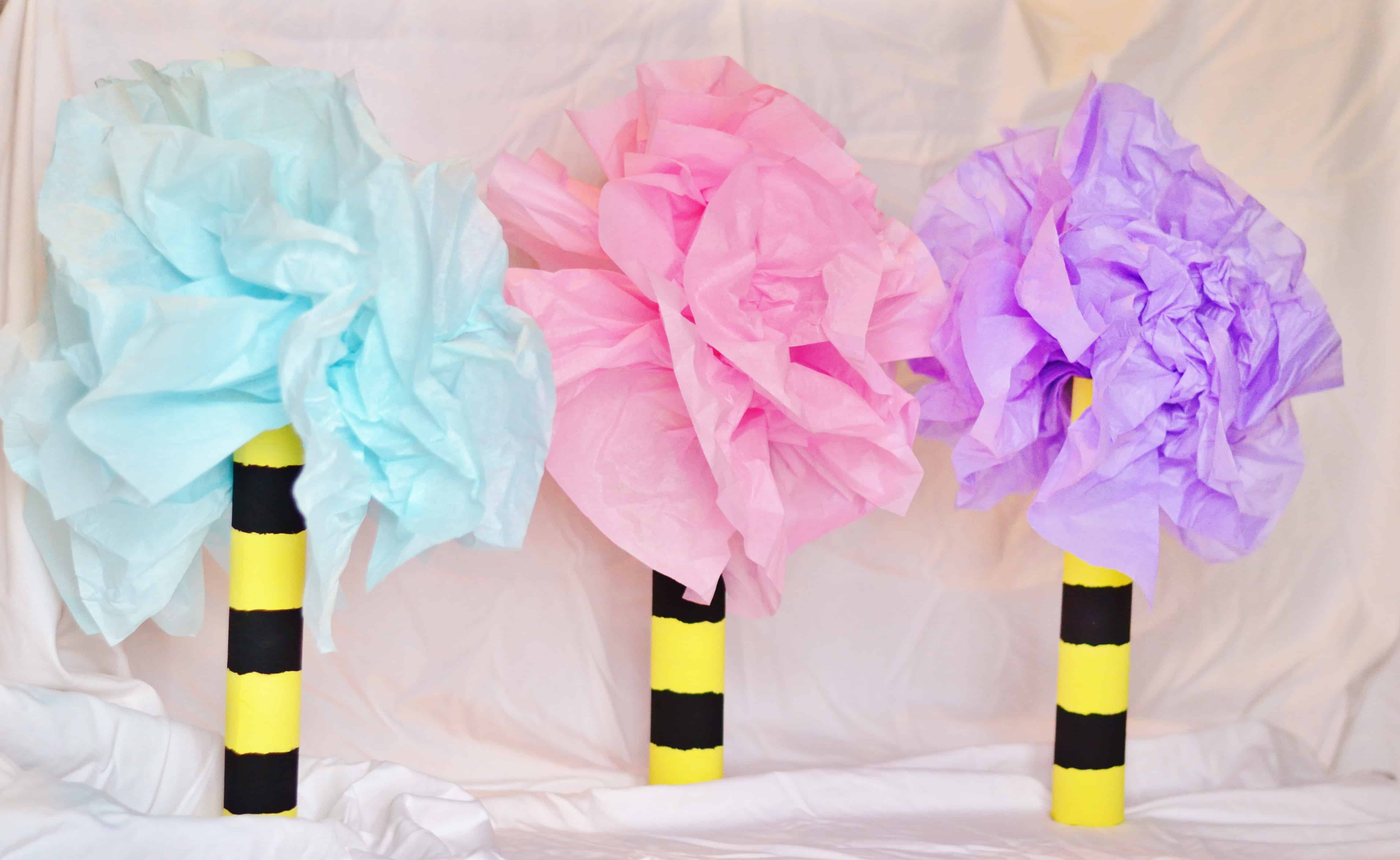dr seuss lorax inspired truffula trees craft tutorial