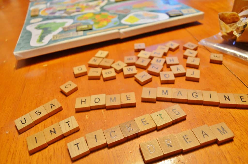 Scrabble Tiles DIY Map Project Craft