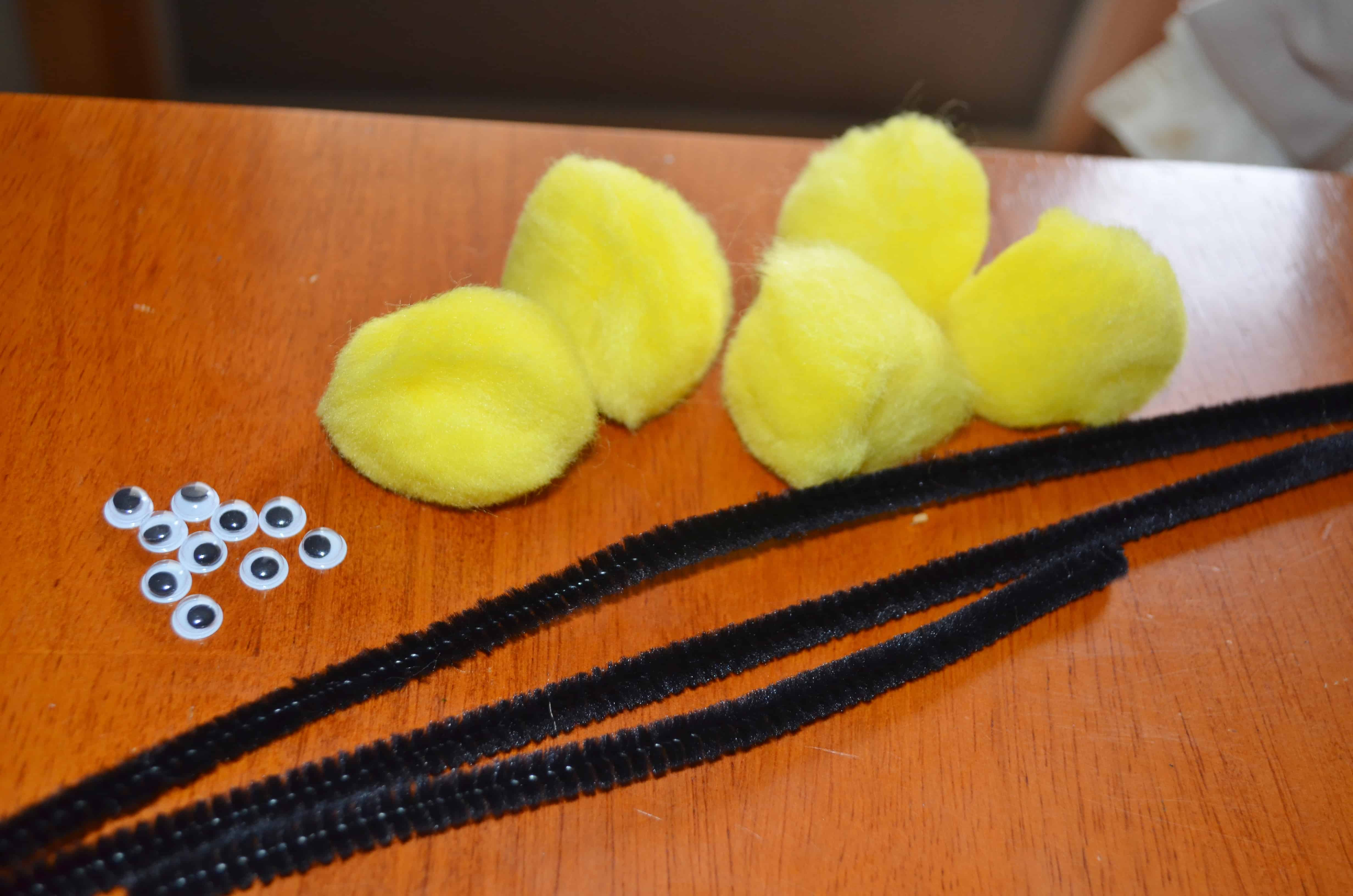 Craft bumble bee - Directions