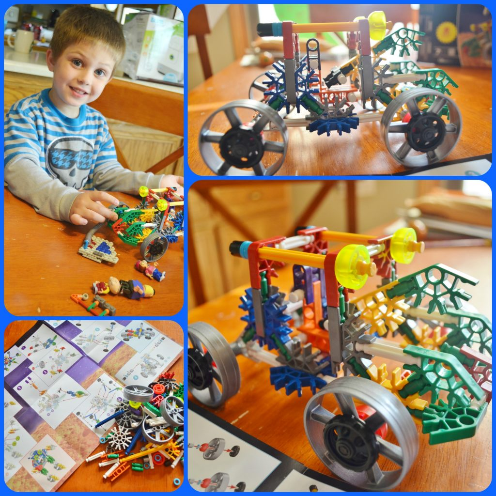 K'NEX building set Collage