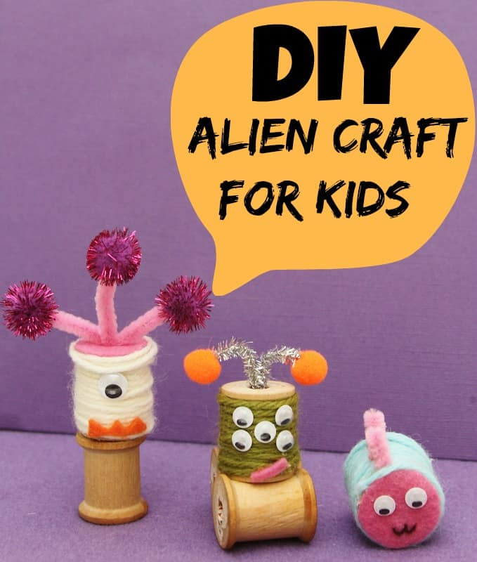 DIY Alien space Craft for Kids