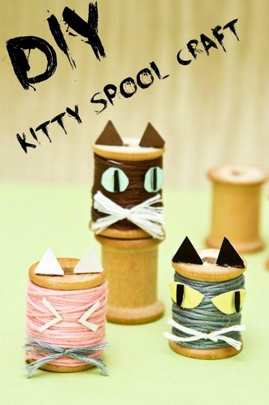 Diy Kitty Spool Craft Tutorial