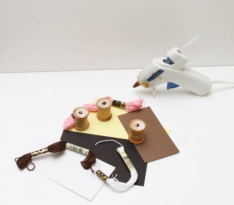 DIY Halloween Kitty Cat Spool Craft Decor