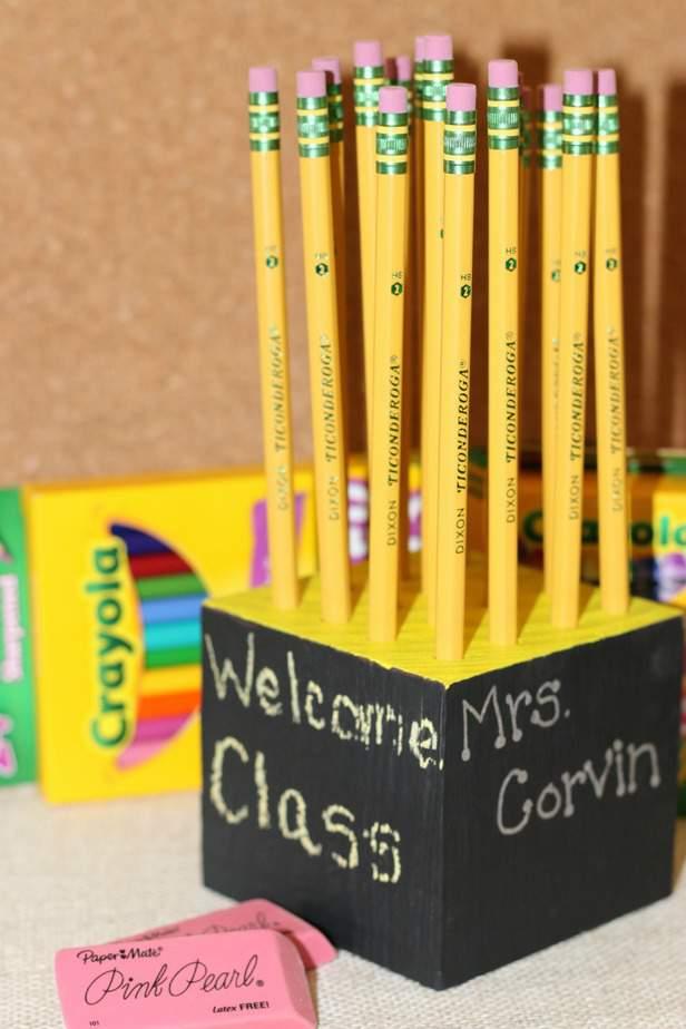diy homemade pencil holder teacher gift idea