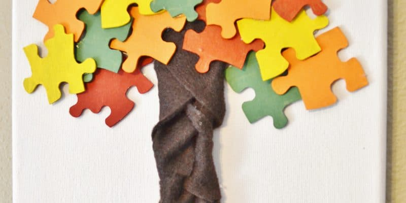 Fall Autumn Puzzle Piece Kid's Craft