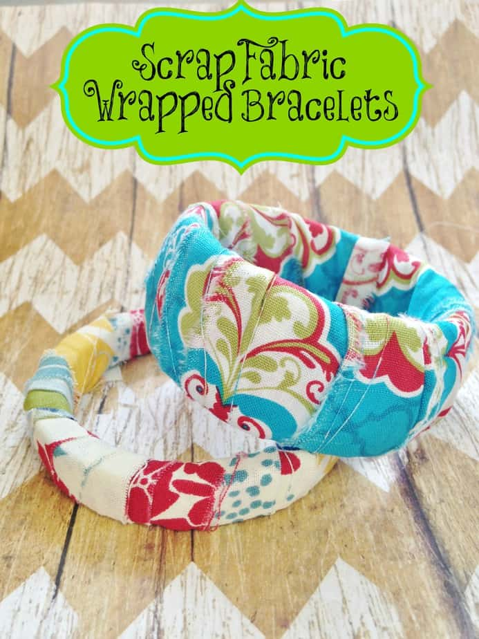 Delightful Fabric Craft Ideas For Kids Part - 1: Scrap Fabric Wrapped Bracelets