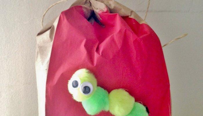 Paper Bag Apple Fall Preschool Craft for Kids