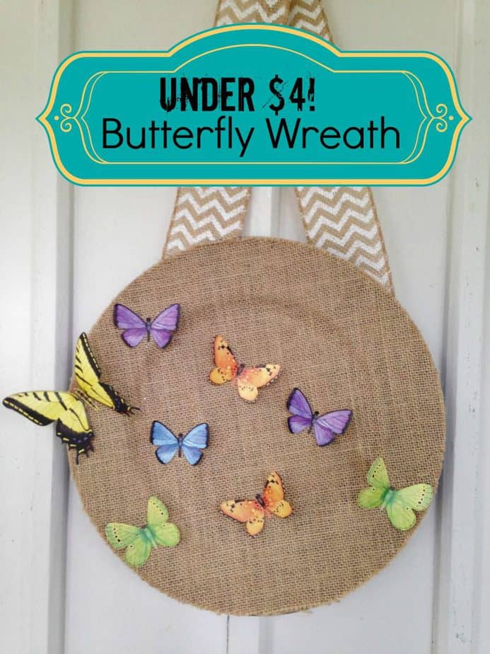 butterfly wreath frugal gift