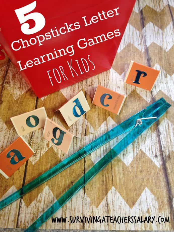chopsticks learning letter games for kids