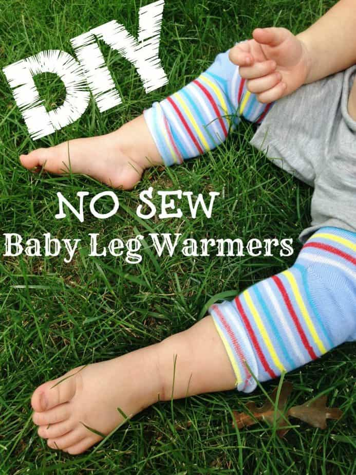 diy no sew baby leg warmers