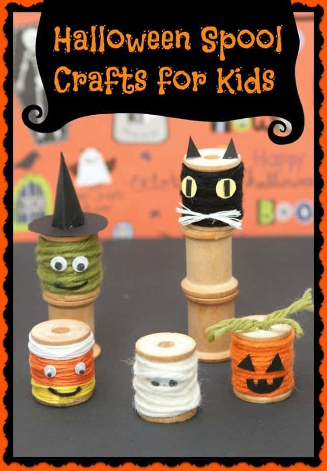 halloween spool crafts for kids
