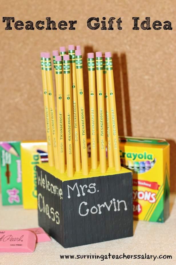 Diy homemade pencil holder teacher gift idea surviving a for Homemade craft gift ideas