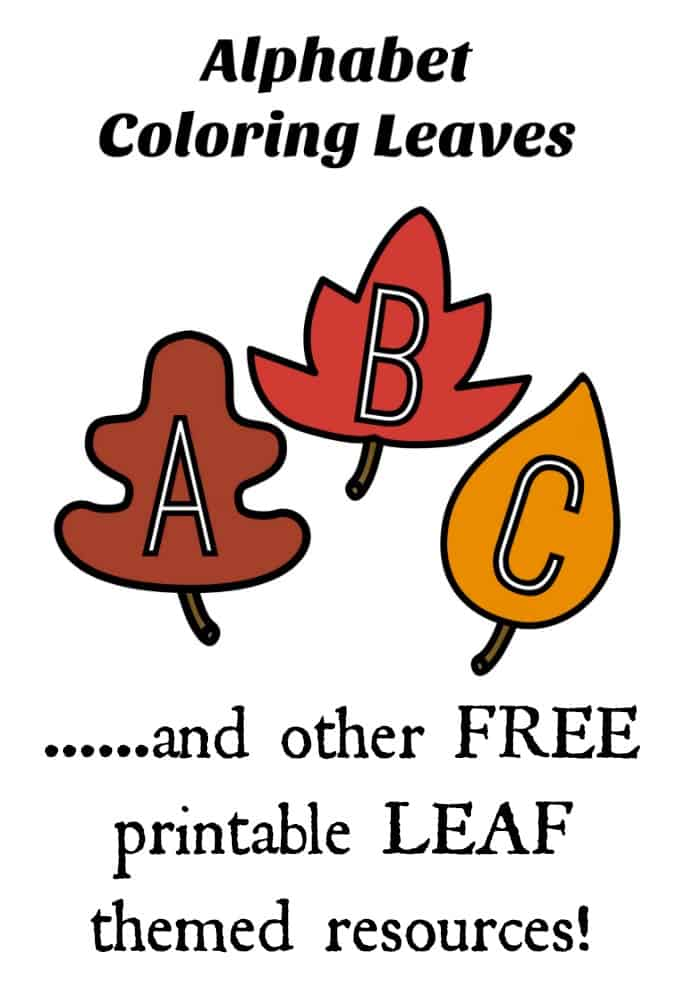 Letters Of The Alphabet Leaf Themed Coloring Pages