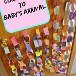 countdown paper chain for baby arrival