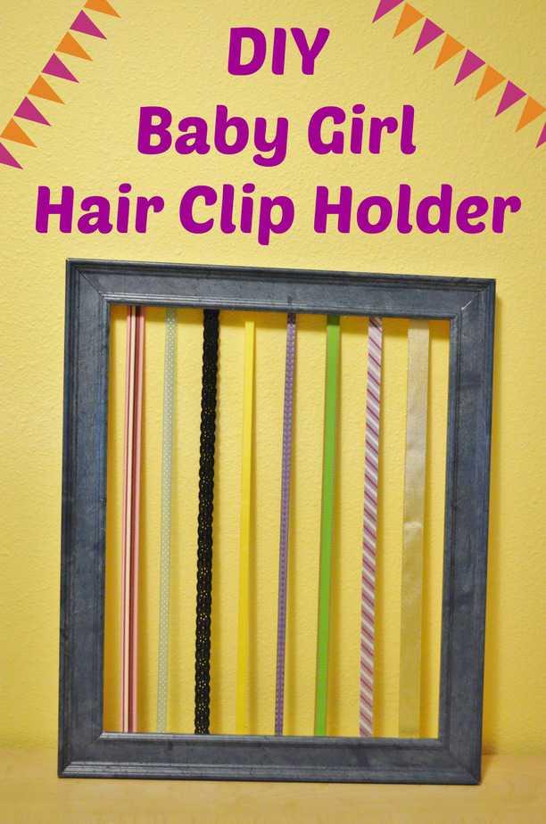 Classroom Decor Printables ~ Diy baby girl hair clip holder tutorial in less than