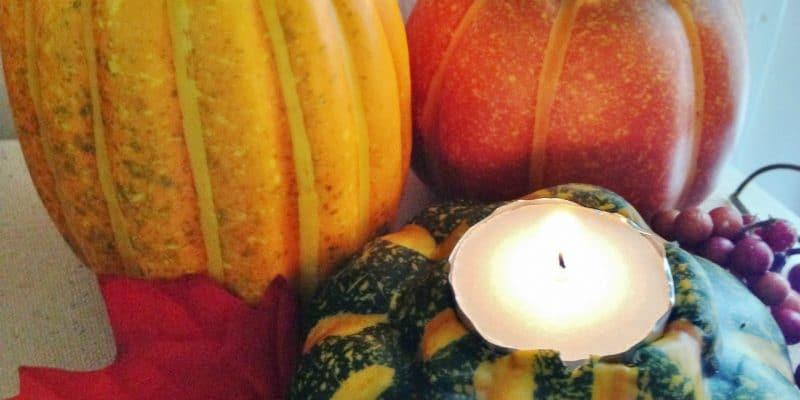 DIY Gorgeous Gourd Votives Frugal Fall Craft